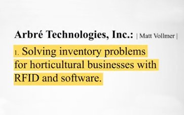 Solving inventory problems for horticultural businesses with RFID and software